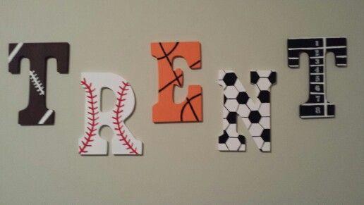 Sport Letters Football Baseball Basketball Soccer