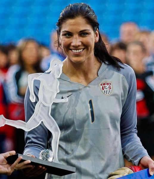 Hope Solo, Goalkeeper Of The United States, Holds The -1104