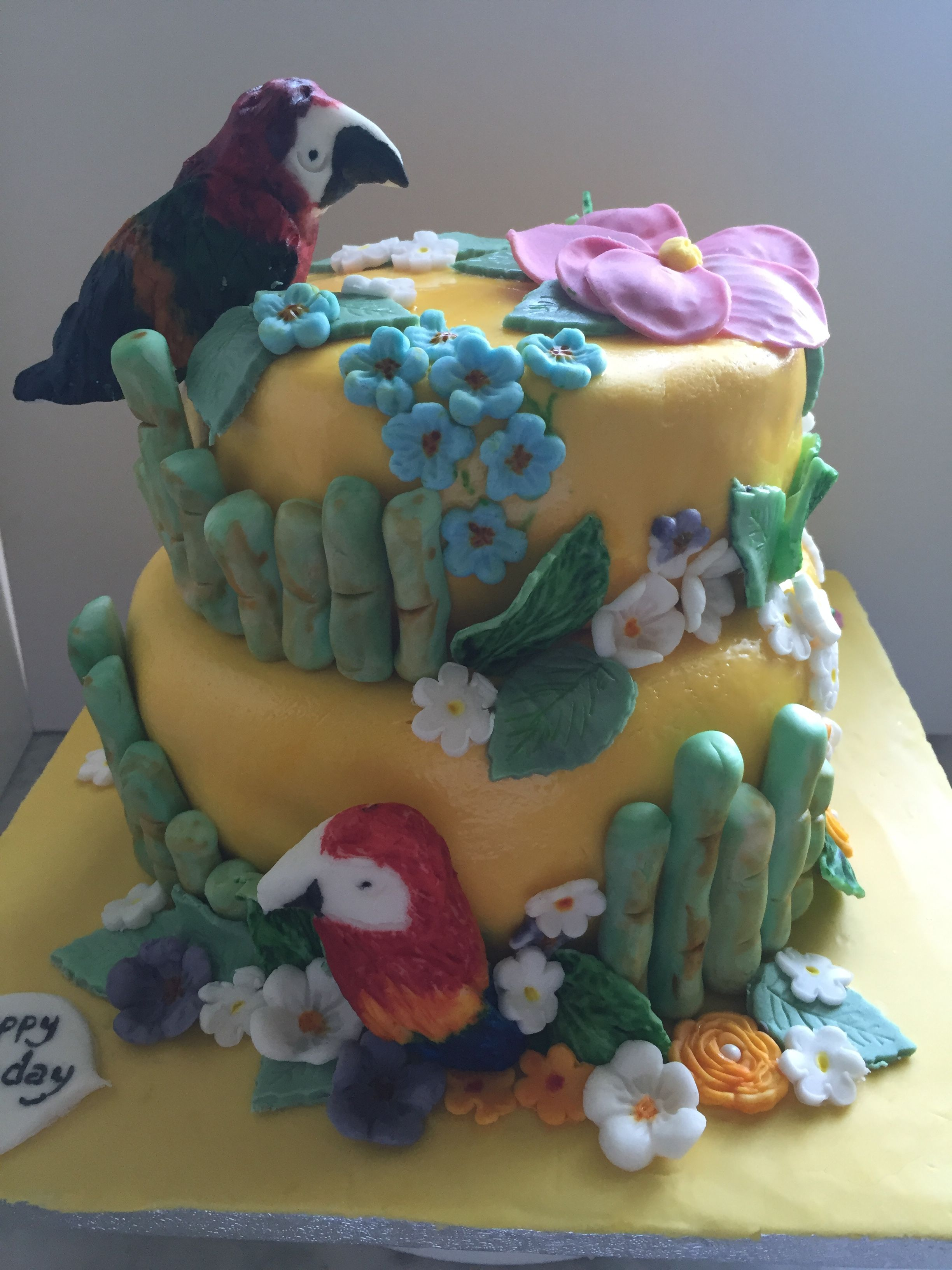 Caribbean Themed Cake For My Daughters Birthday My Cakes Ive