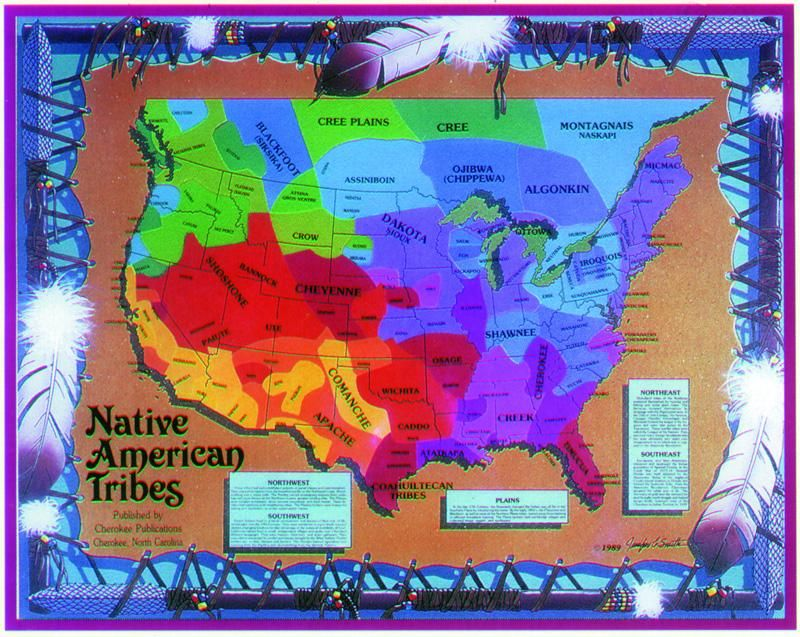 Native American Tribal Patches That Might Give Parts Of The - Map of us tribes