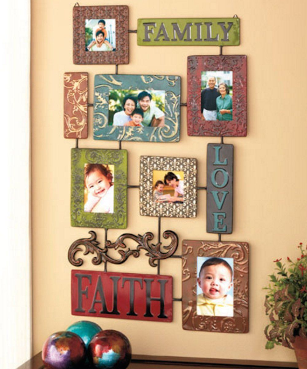 Decorative Elements Faith Family Love Embossed Metal Collage Photo ...