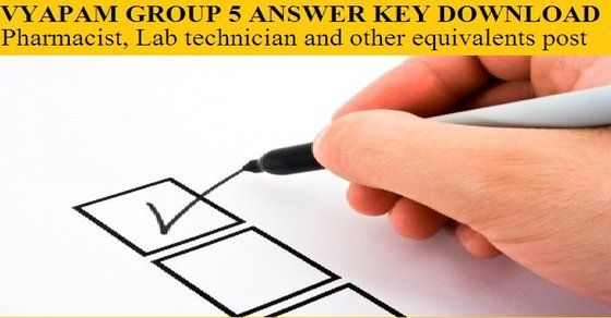 test answer key - Group-05 Pharmacist, Lab technician and