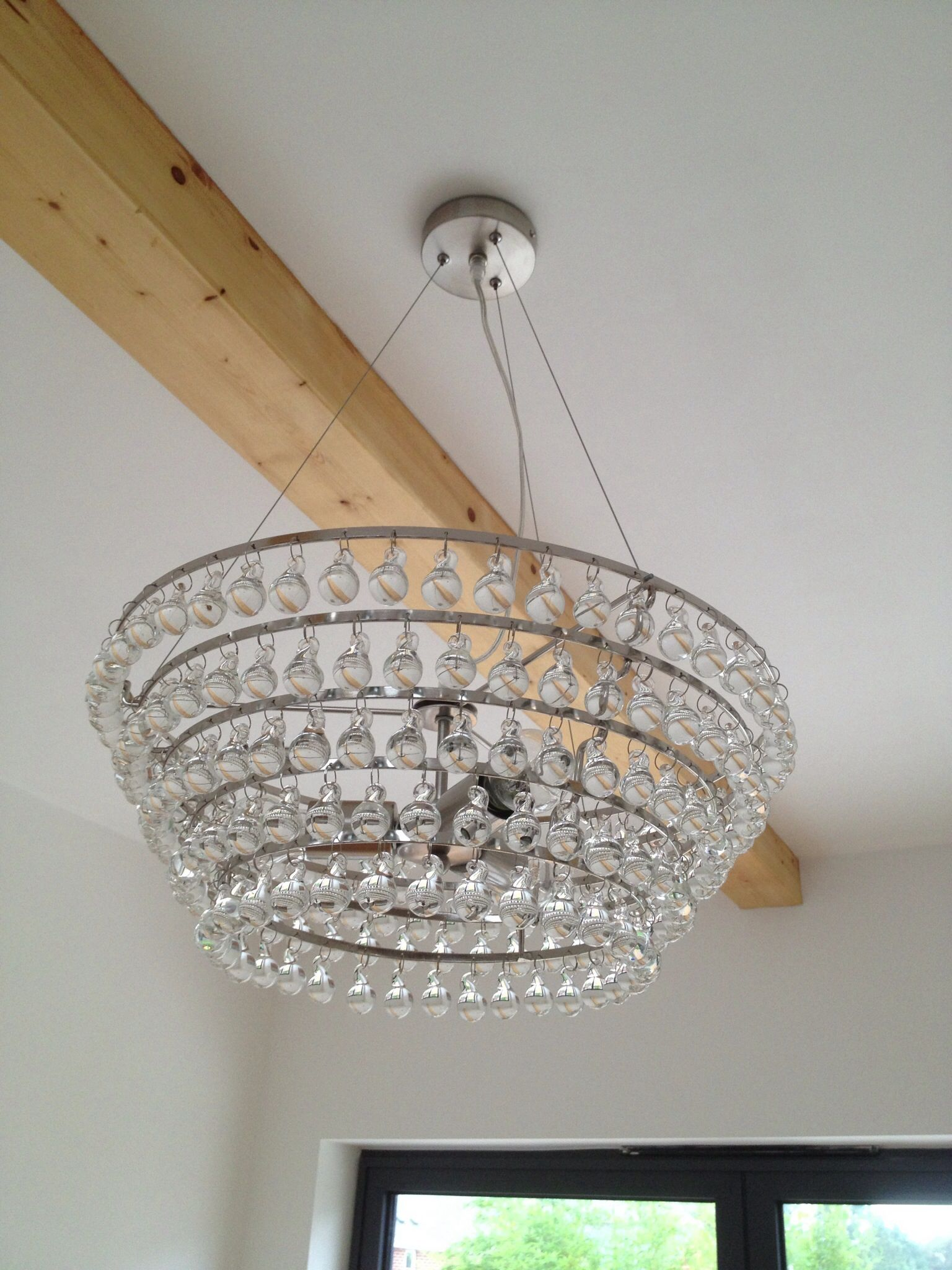 White pany glass orb chandelier Lighting Pinterest