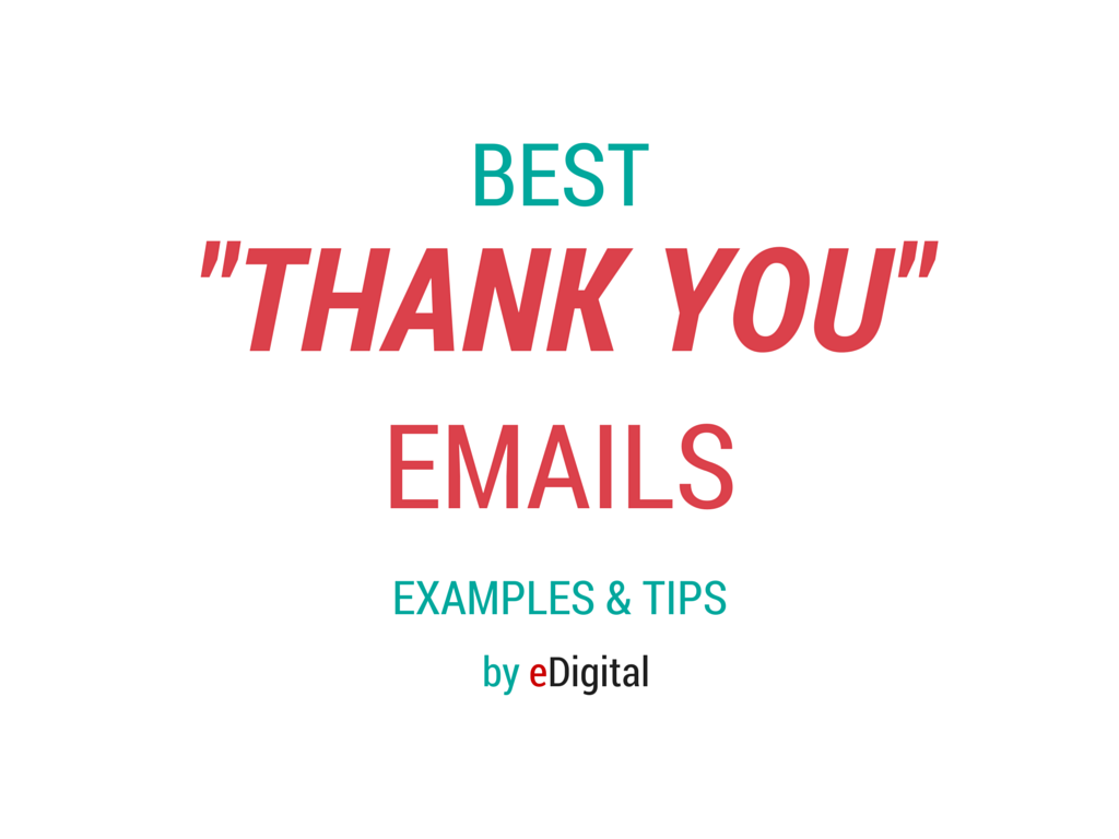Best Thank You Email Examples