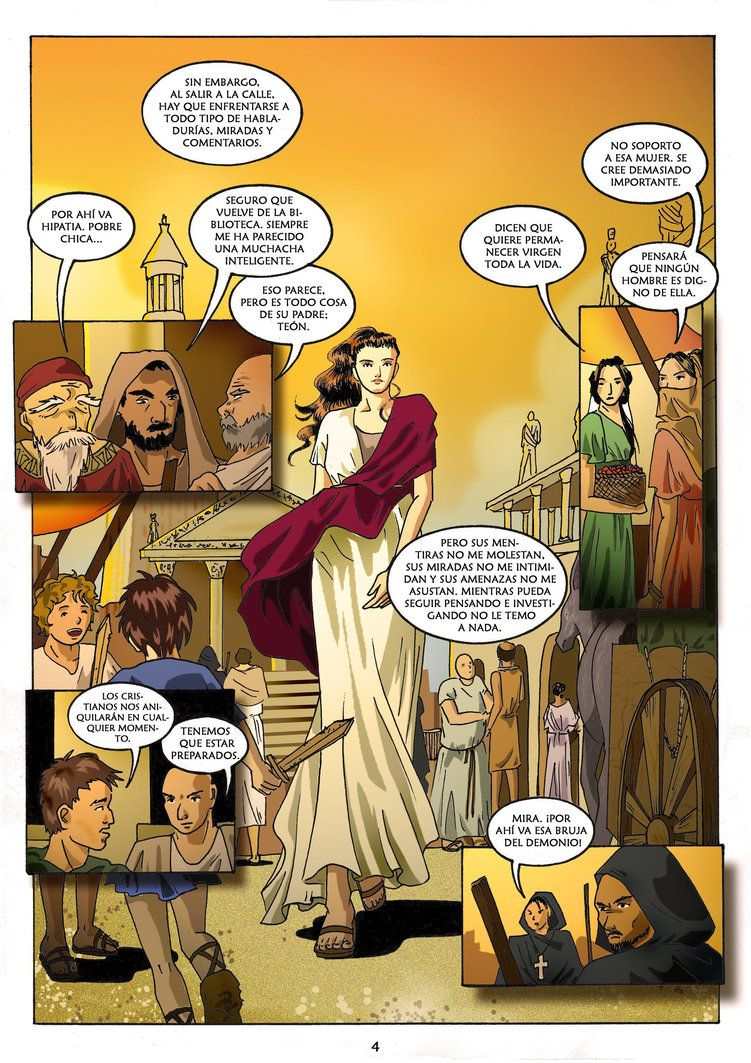 Comic sobre Hipatia de Alejandria