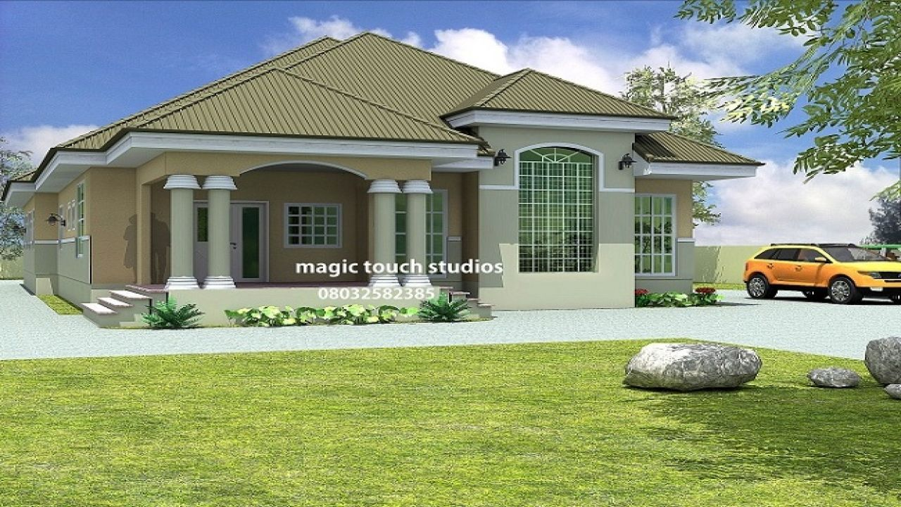 Two Bedroom Homes 5 Bedroom Duplex 5 Bedroom Bungalow House Plan In Nigeria Bungalow Style House Plans Bungalow House Plans Bungalow House Design