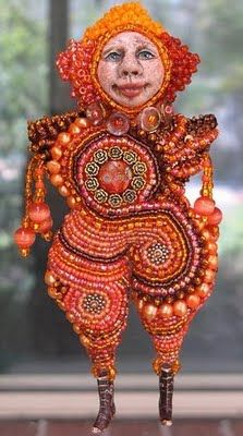 Doll friend Lynn Manning makes beautiful beaded dolls and cloth dolls with bead embellishments.