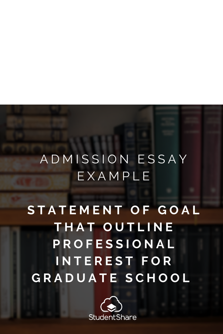 Download Essay Sample Statement Of Goal That Outline Professional Interest For Graduate School At Https Studentshare Org Essay Examples Essay School Essay