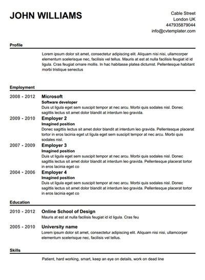completely free resume builder template