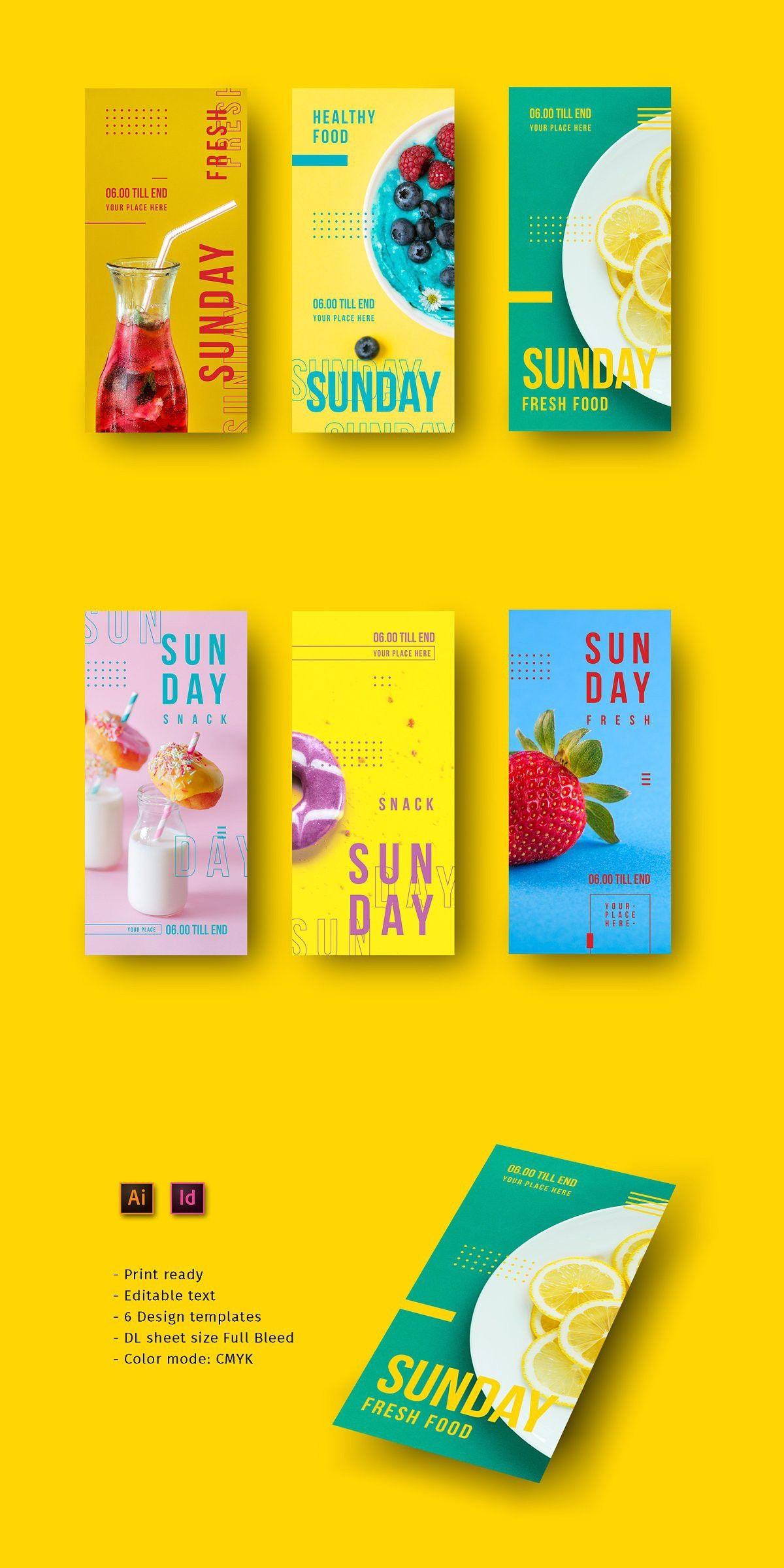Sunday Snack Flyer Poster Makanan Referensi Desain Desain