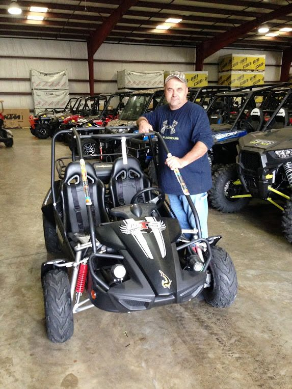 Thanks to Timothy Jones from Lumberton MS for getting a 2015 Hammerhead GTS 150 at Hattiesburg Cycles