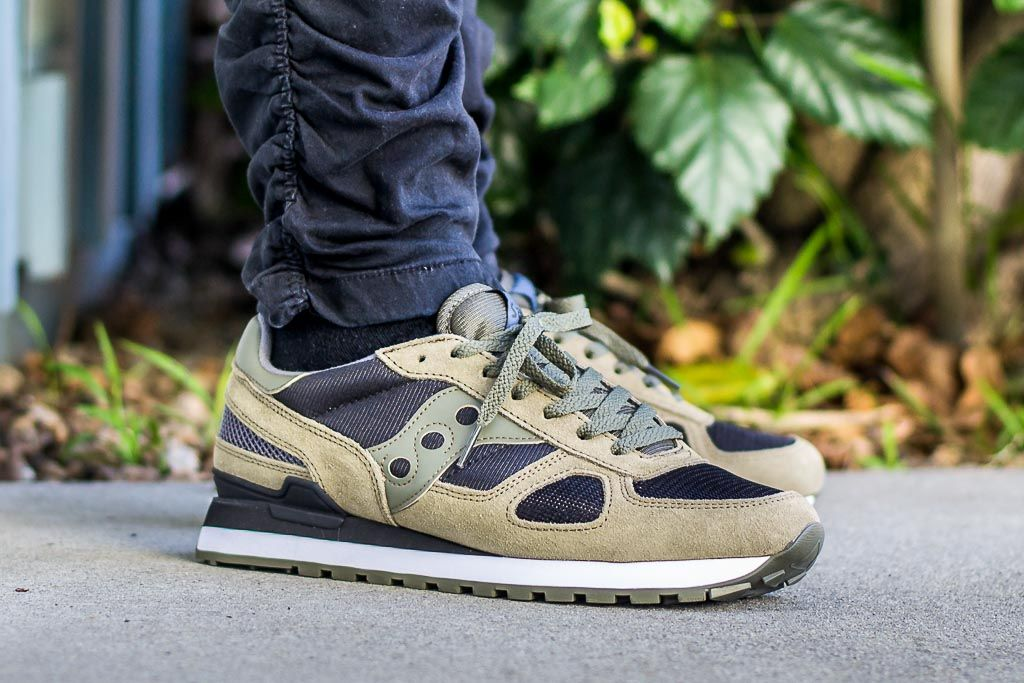 26786610fb4 Get These Black Olive Saucony Shadow Originals For Just  42 While Supplies  Last!