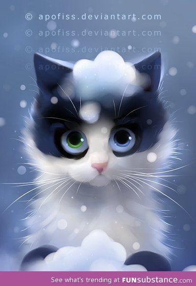 Furry ball of snow! :3 - FunSubstance