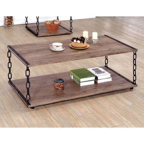 Furniture Of America Marley Chain Legged Coffee Table Diy Coffee