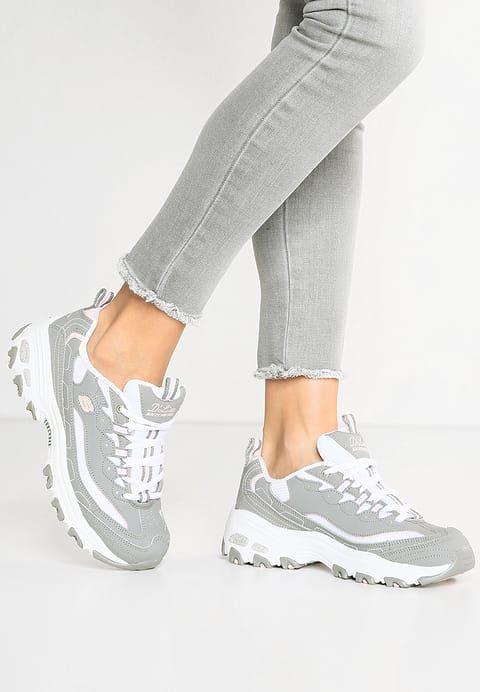 Skechers Sport D Lites Tenisowki I Trampki Gray White Light Pink Zalando Pl Vans Old Skool Sneaker Skechers D Lites Skechers