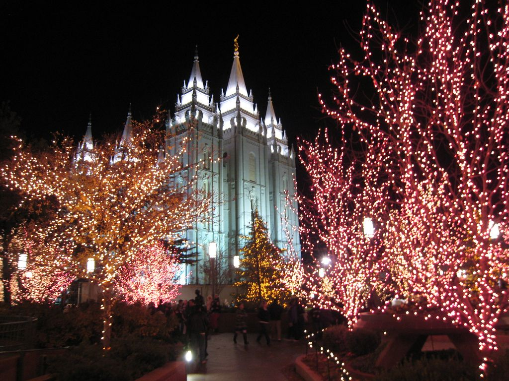 temple square christmas lights | The Trumpet Stone: Christmas at ...