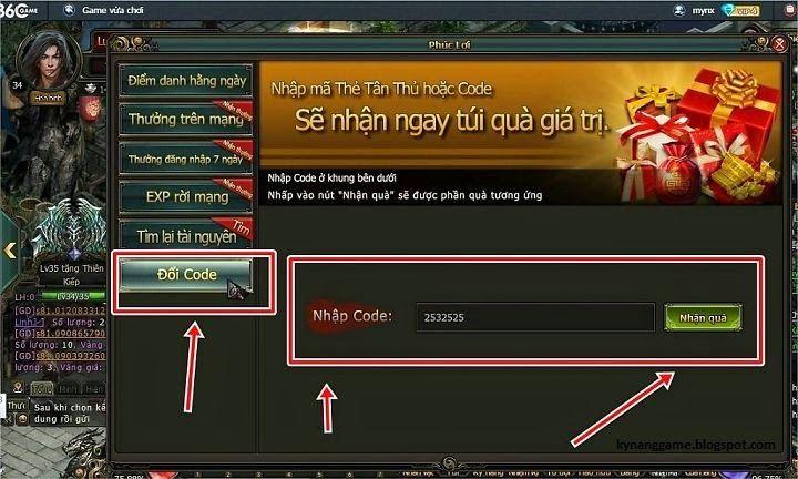 http://kynanggame.blogspot.com/ [Gift Code] Quà Tri