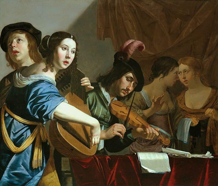 Jan Van Bijlert Música Del Renacimiento Arte Y Musica Cuadros De Musica
