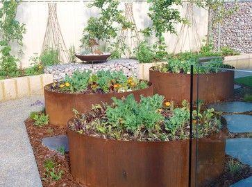 gardenideasfromrecycledmaterials perth landscape architects - Garden Design Perth