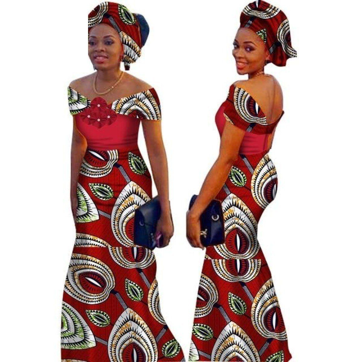 African style long dress for women cotton print kitenge ankara