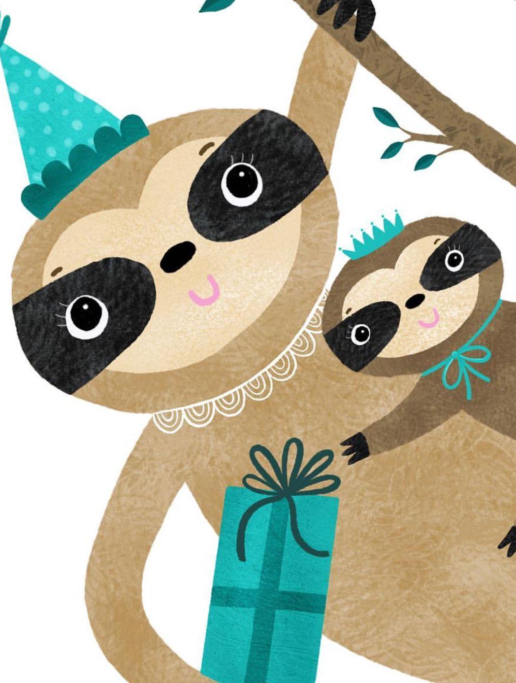 Sloths By @aimeesuedesigns   树懒   Pinterest   Sloth