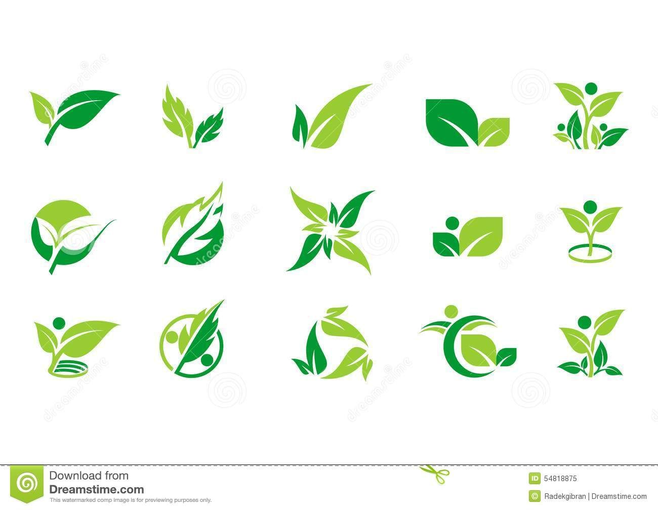 Leaf Plant Logo Ecology People Wellness Green Leaves