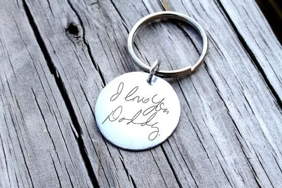 85e4e59ebf0bc Custom Handwriting Keychain - Handwriting Keychain - Memorial Keychain -  Signature Jewelry - Signatu
