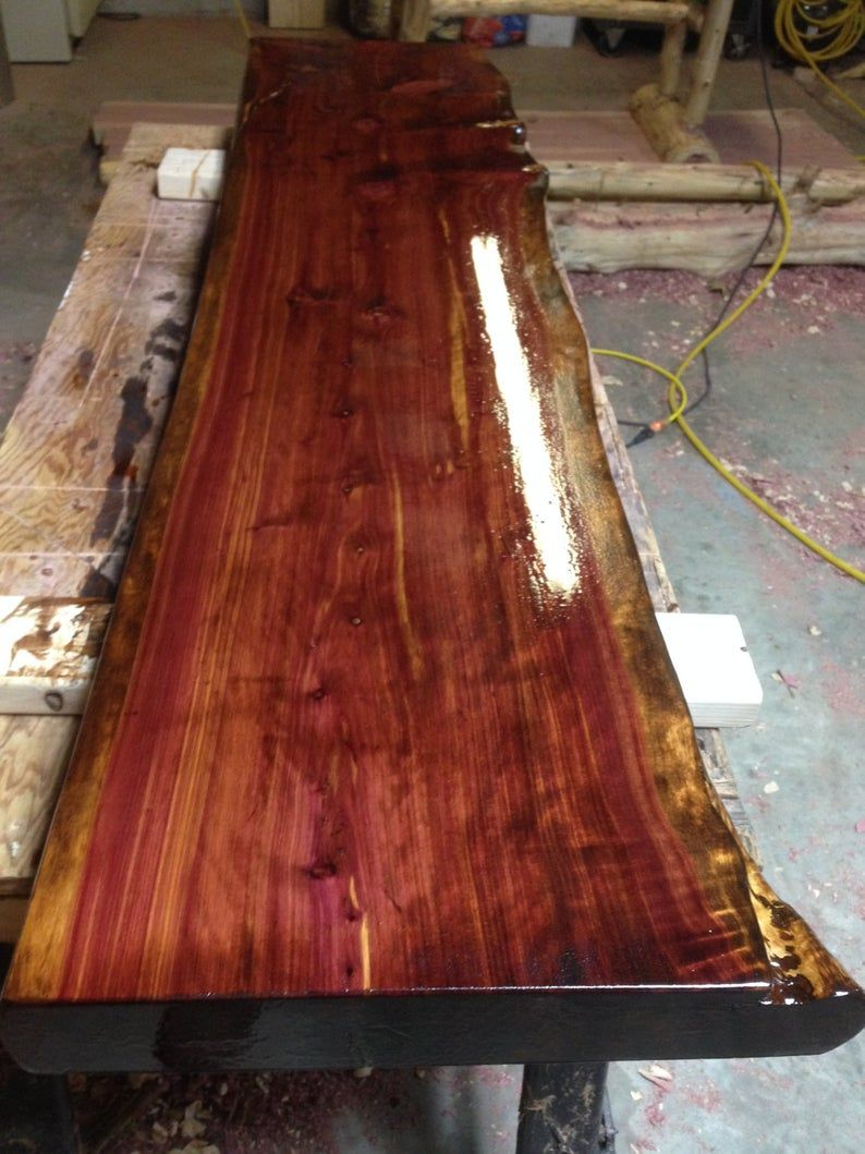 Price is determined by size Nyc Metro Area Only LIVE EDGE WOOD Customized Rustic Bar or Counter Top ....Give us your dimensions