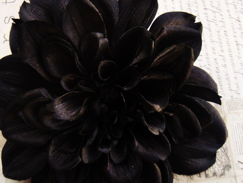 Black dahlia hair flower clip black dahlia dahlia flower and dahlia black dahlia flower izmirmasajfo
