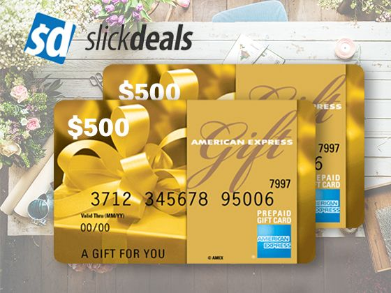 Win A 500 Amex Gift Card From Slickdeals Ends 7 25 Daily Entries American Express Gift Card Gift Card Personalized Gift Cards