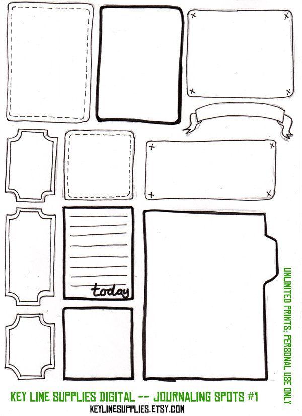Digital Scrapbook Embellishment Journal Tags Journaling