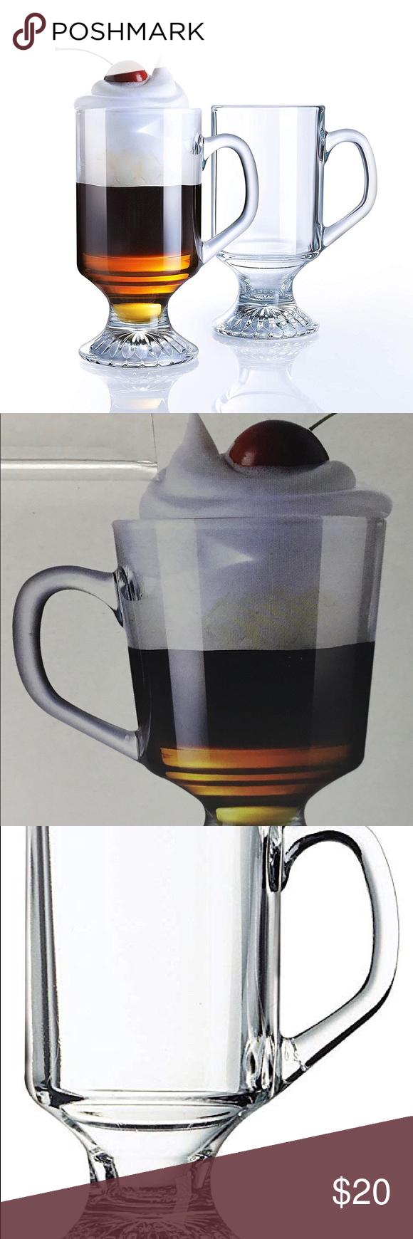 Luminarc 10 Oz. Irish Footed Coffee Mugs Set of 4 in 2020