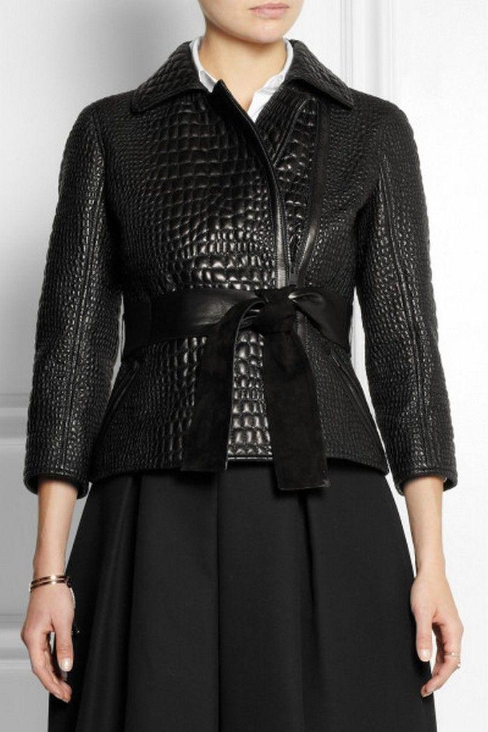10.Fendi Croc-effect Leather Jacket - Price  6 c3f1460b70214