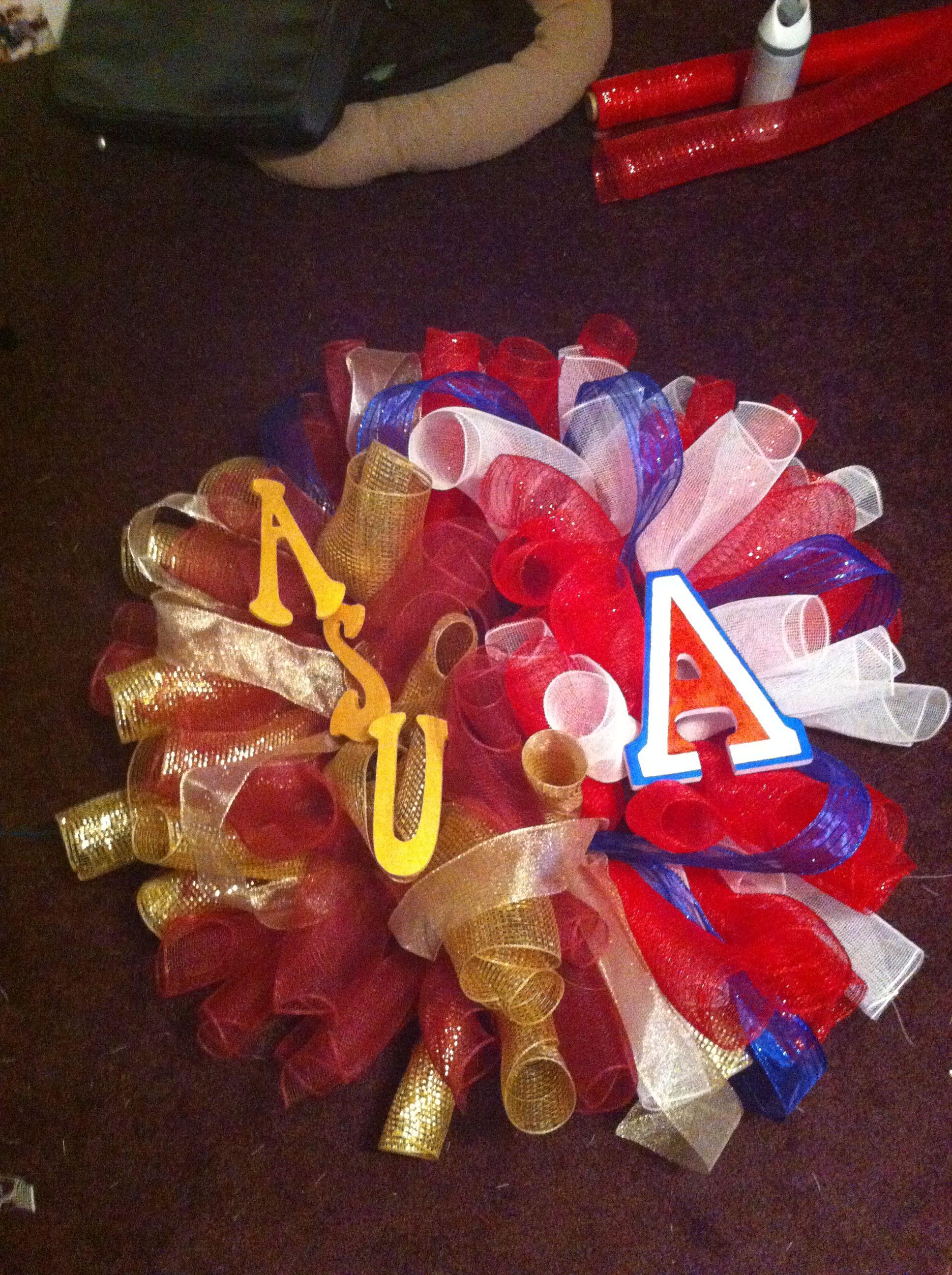 ASU Sun Devils Merry Christmas Wreath Decorative Holiday Wreath House Flag
