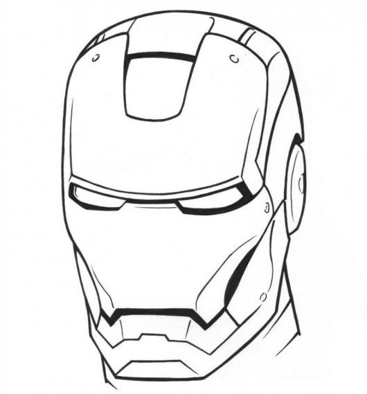 Iron man coloring pages mask 530x569