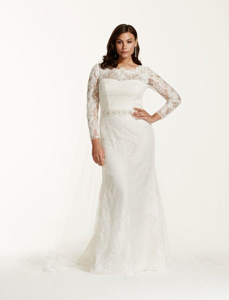 20 Gorgeous Plus-Size Wedding Dresses | Bridal lace, Wedding dress ...