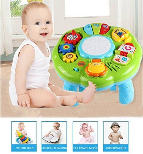 Baby Development Toy Musical Activity Table Toddler Educational Piano Learn  Gift #StyleCarry