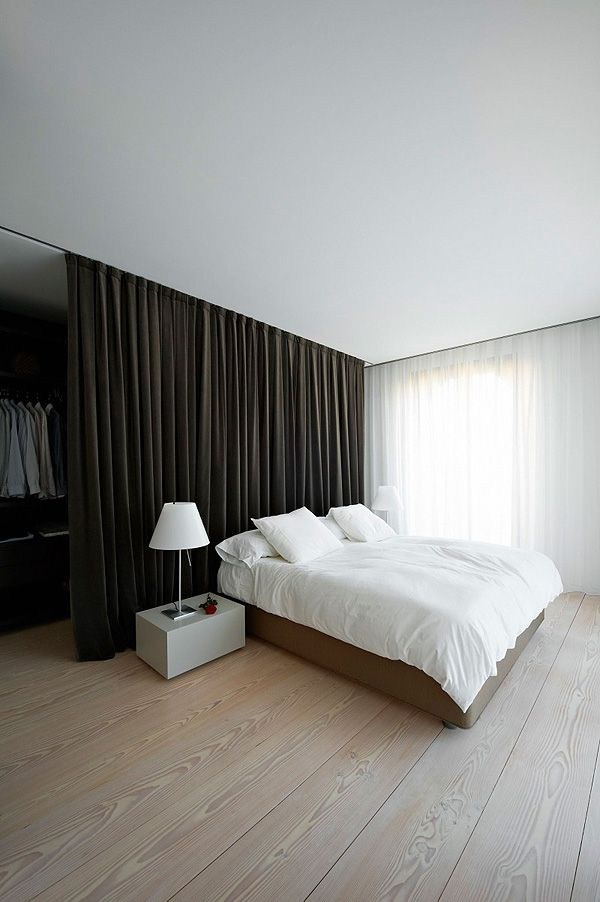 Use A Thick Heavy Curtain As A Room Divider And Or To Add Texture