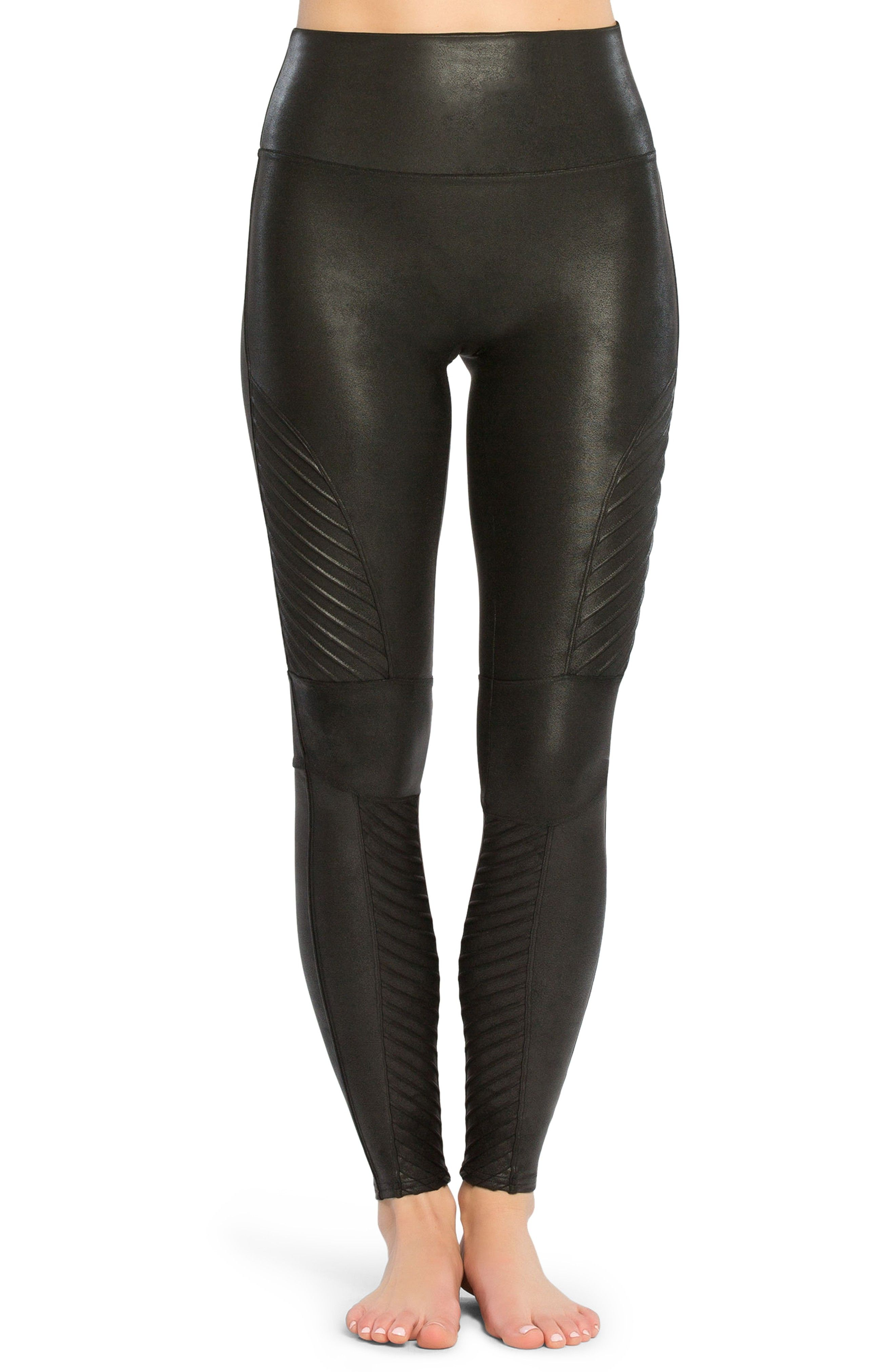 435af785 SPANX Faux Leather Moto Leggings | wear | Spanx faux leather ...