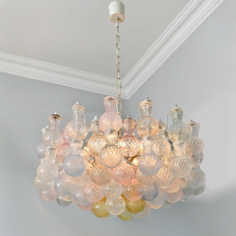 Midcentury Chandelier By Famous Murano Glass Maker Seguso The