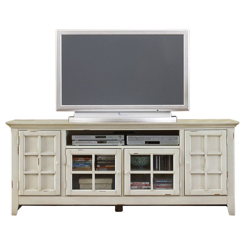 Liberty Furniture New Generation Transitional TV Stand In Vintage White