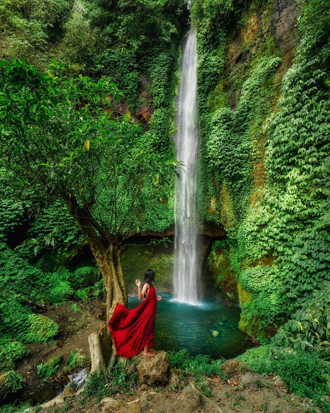 A Secret Waterfall at North Bali Letstravelinbali Waterfall