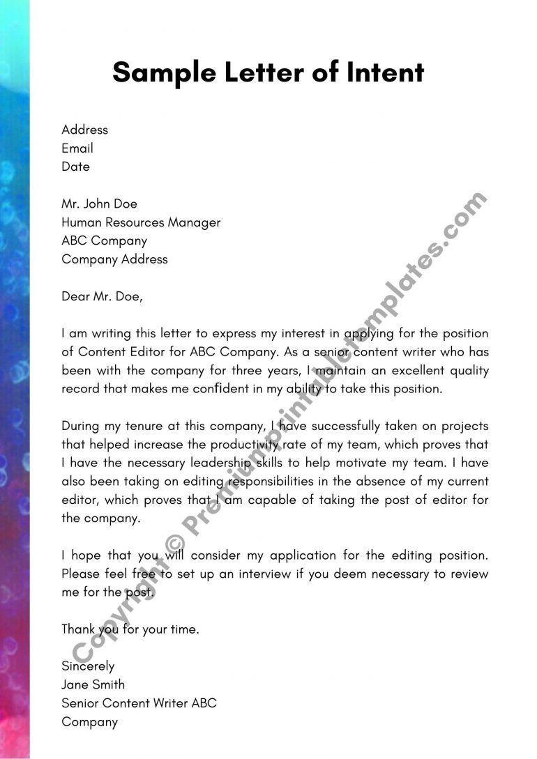 30+ Sample letter of intent for graduate school pdf ideas