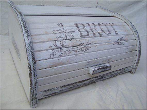 Küchenschrank Vintage ~ Vintage bread box bread bin brotkasten brot rustic bread box