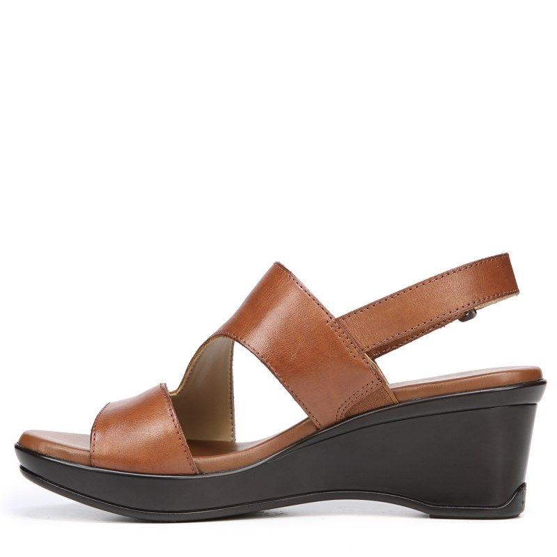 0c6af7bba643 Naturalizer Women s Valerie Narrow Medium Wide Wedge Sandals (Saddle ...