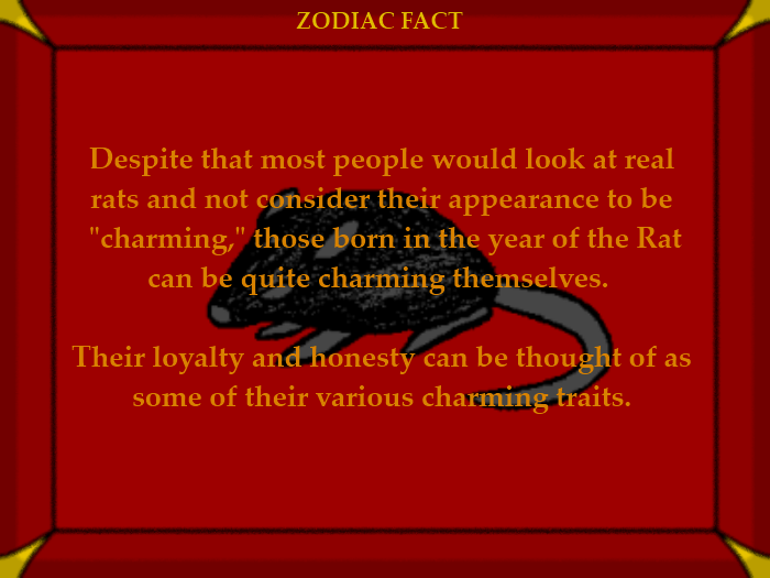 Rat Fact #1 Chinese Astrology