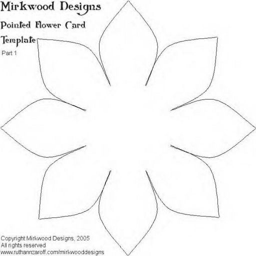 Moldes flores - 115192674335336013334 - Álbumes web de Picasa - flower petal template