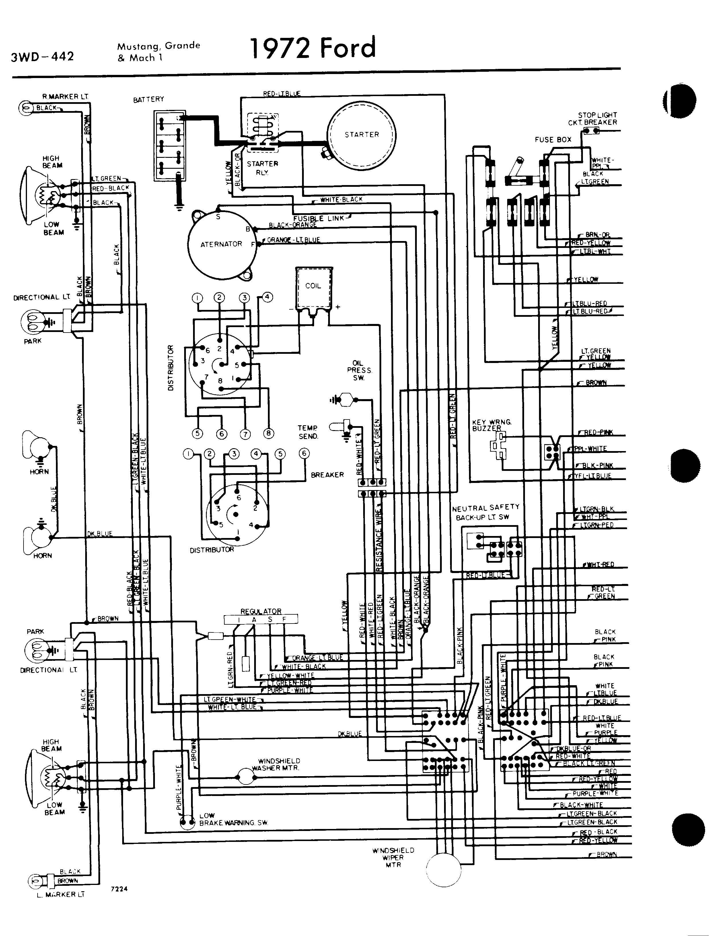 medium resolution of 1972 ford mustang engine wiring diagram wiring diagrams scematic 66 mustang alternator wiring diagram 1970 ford