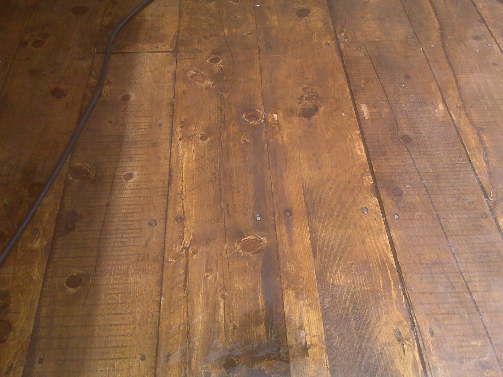 3 Inch Rough Sawn Spruce Deck Staining Deck