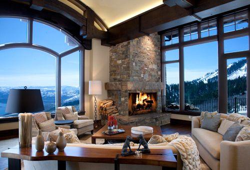 Paula Berg Design Associates Gallery   Rustic living room ...
